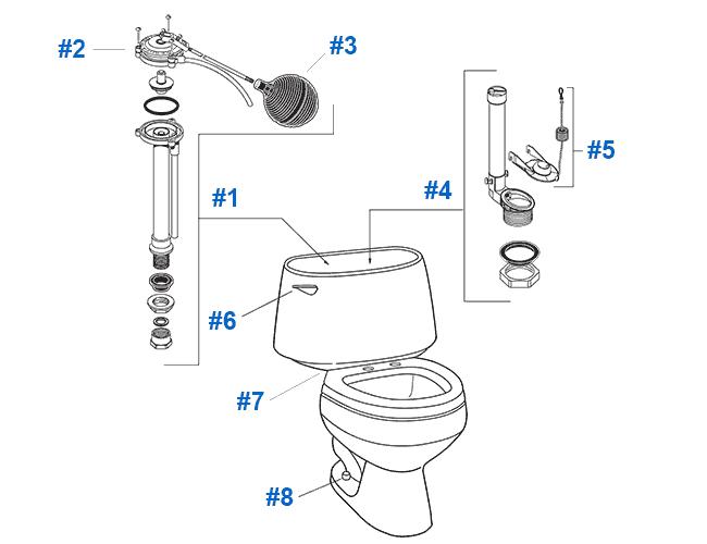 American Standard Toilet Repair Parts for Clarion Series