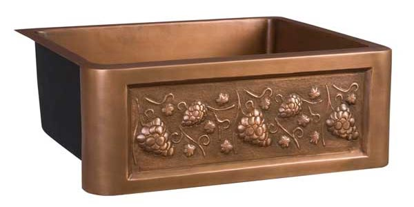 undermount kitchen sink sizes round rugs deluxe copper sinks with single and double bowls