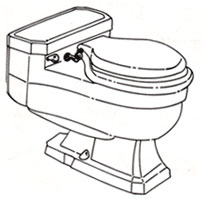 Easy to read toilet identification for Case and Briggs toilets