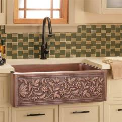 Copper Kitchen Sink Cheap Flooring Sinks In A Variety Of Configurations And Finishes Barclay Cilantro Single Bowl