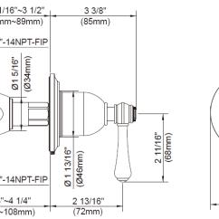 Shower Diverter Valve Diagram 89 Nissan 240sx Radio Wiring Danze 4 Port And Trim Kits 1 Handle Opulence Collection