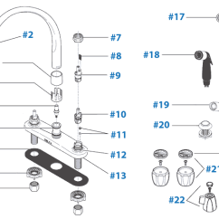Delta Kitchen Faucets Repair Seating Parts For Faucet Diagram Models 2173 2174 2176 2474 2476