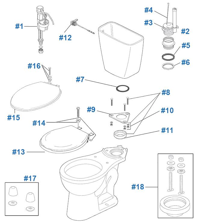 Delta Prelude Toilet Repair & Replacement Parts