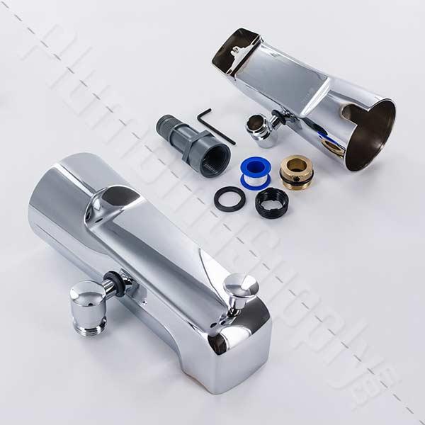 add a shower diverter tub spout