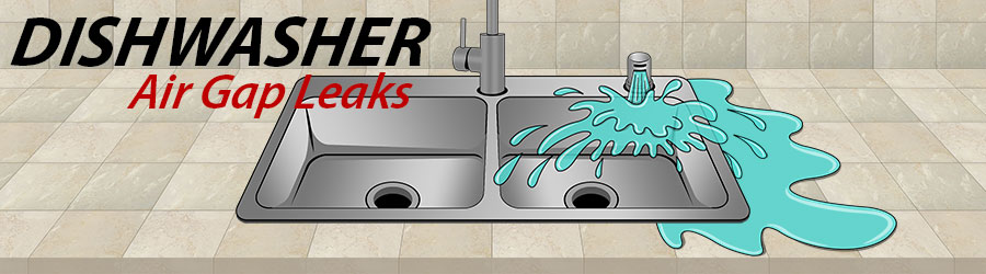 kitchen air gap hardware for white cabinets dishwasher leaking we ve got answers
