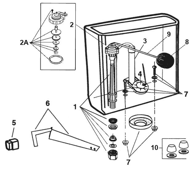 Eljer Toilet Tank Mounting Kit