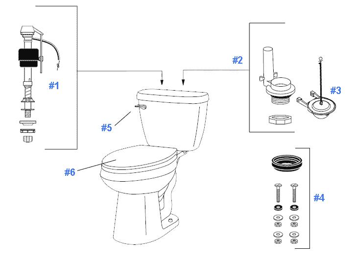 Toilet Repair: Gerber Toilet Repair Parts