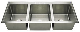 triple kitchen sink design gallery extra large bowl drop in top mount sinks griffin commercial grade