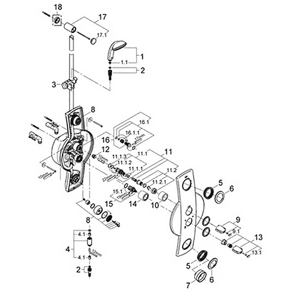 Grohe Mixing Valve Parts. parts for grohe seabury series