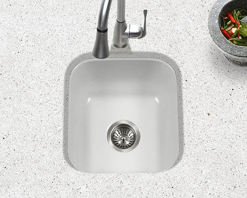 undermount kitchen sink sizes white table set houzer porcelain enameled steel sinks