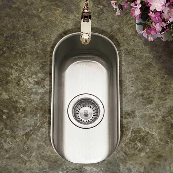 kitchen sink drain size rooster statue for undermount bar & prep sinks