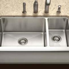 30 Kitchen Sink Islands Houzer Apron Front Farmhouse Sinks Epicure Series Epo 3370sr 70 Double Bowl Style