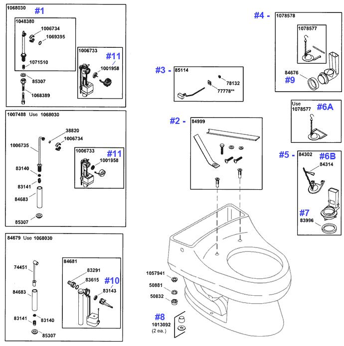 Kohler Rialto Toilet Repair Parts