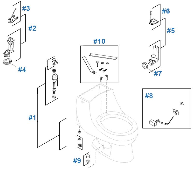 San Martine Toilet Replacement Parts