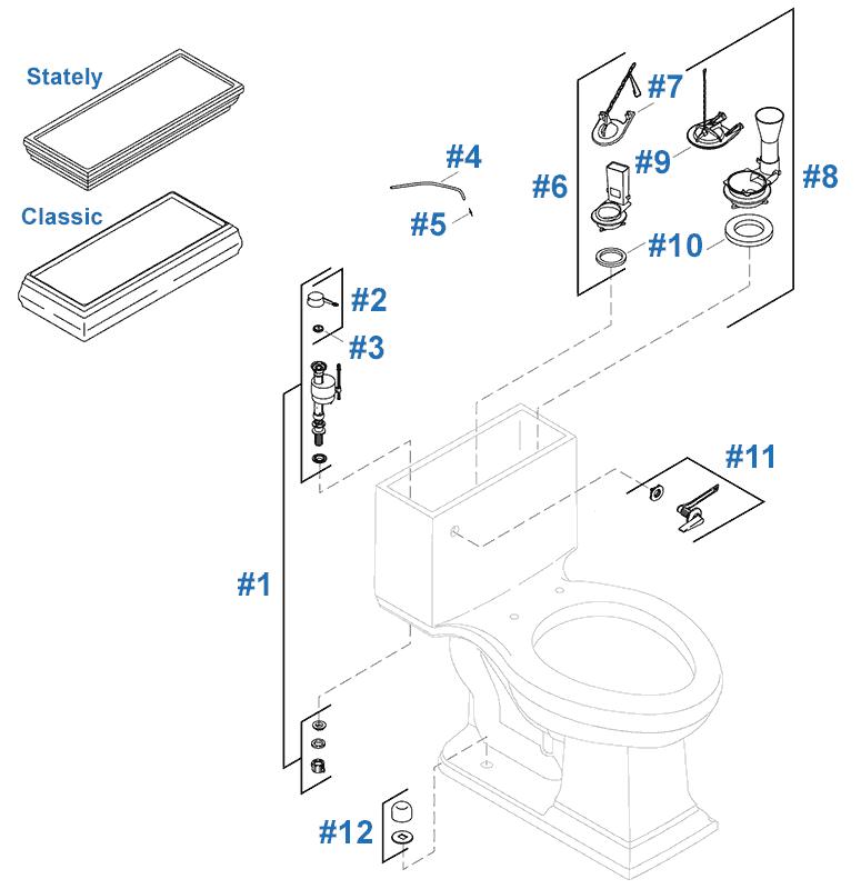 Repair Parts For Kohler Memoirs Toilet