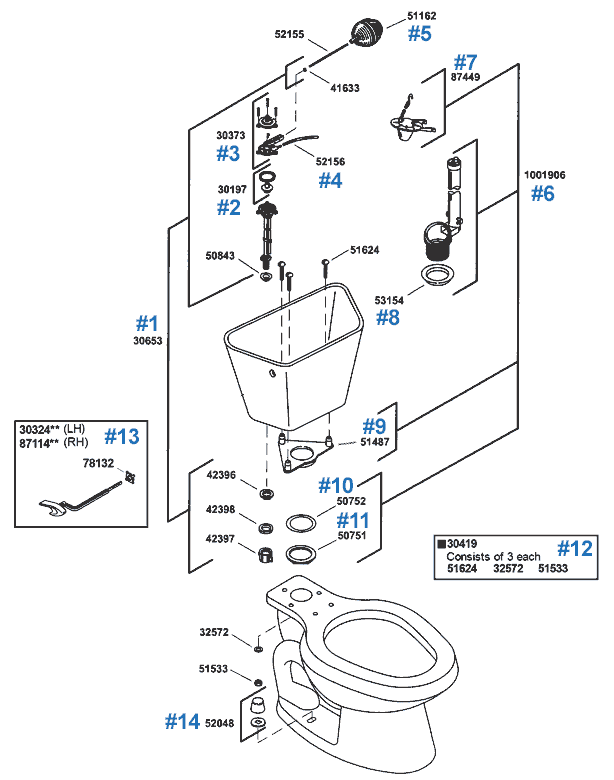Northline Toilet Replacement Parts