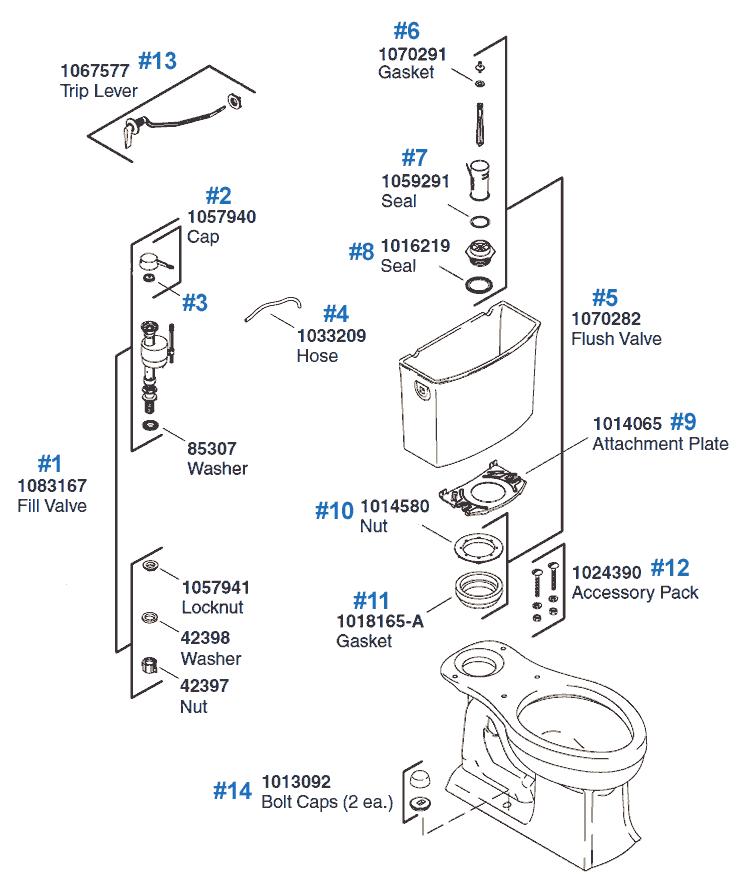 Archer Toilet Replacement Parts By Kohler