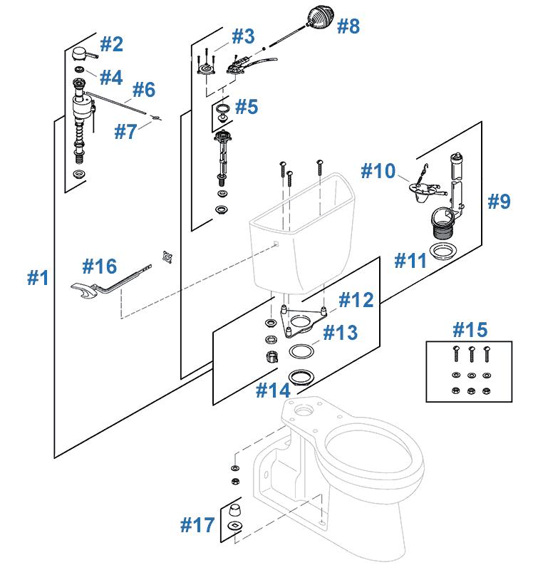 Replacement Parts For Kohler Barrington Toilets