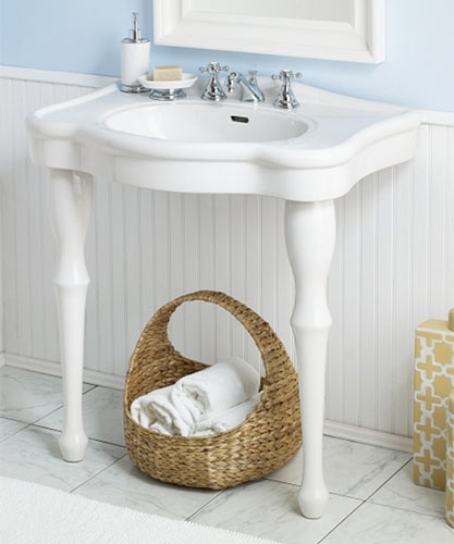victorian style 2 legged bathroom sinks