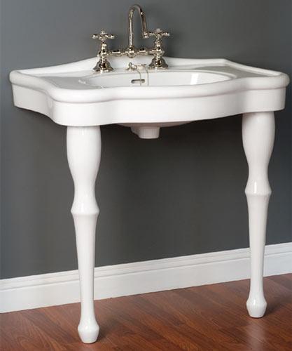 lavatory consoles - victorian style 2-legged bathroom sinks