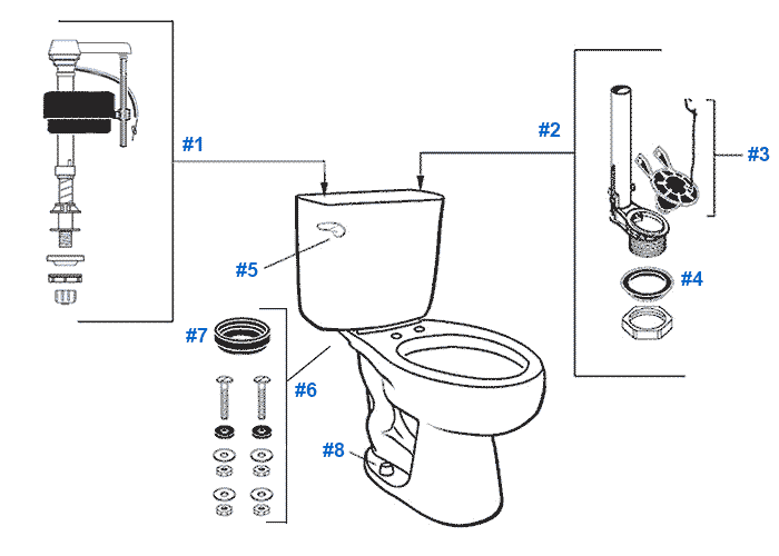 Mansfield Alto Toilet Replacement Parts