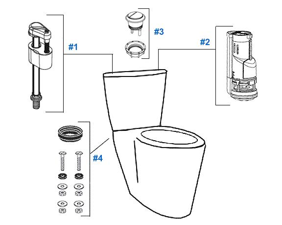 Toilet Repair: Quality Craft Toilet Repair Parts