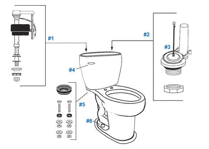 Mansfield Reo Toilet Replacement Parts