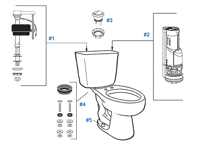 Mansfield Summit Toilet Replacement Parts