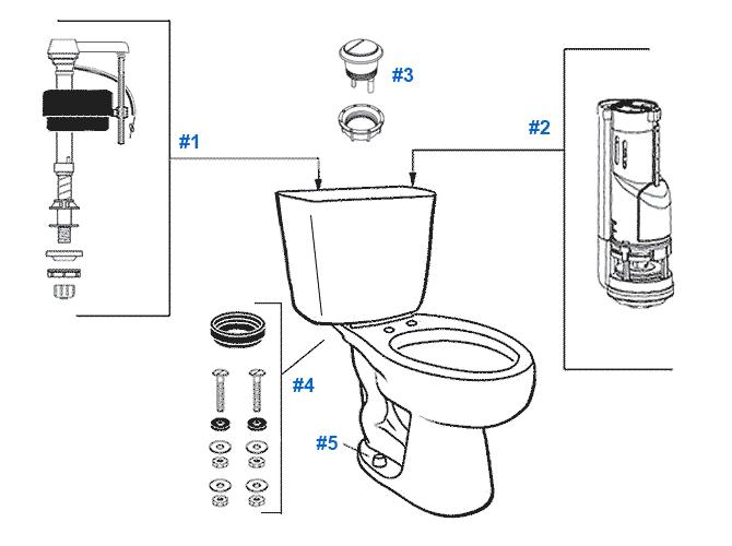dual flush toilet replacement parts