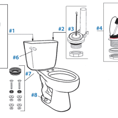 Toilet Repair Parts Diagram Audiovox Radio Wiring Mansfield Summit Replacement For Two Piece Standard Flush Toilets