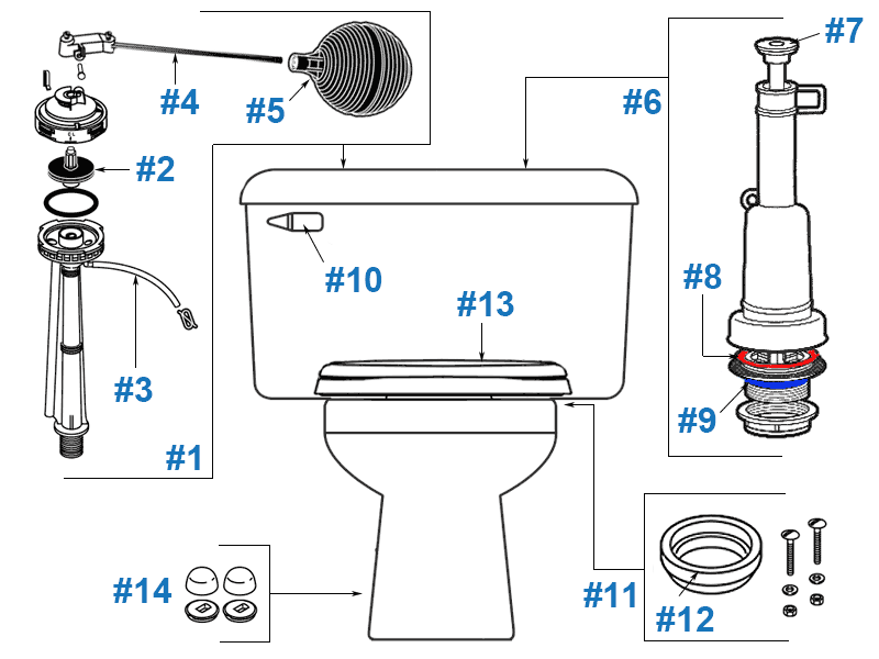 Mansfield Claro Toilet Replacement Parts