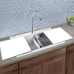 Stainless Steel Kitchen Sinks Undermount Backsplash Tile For Luxury Italian Granite Composite