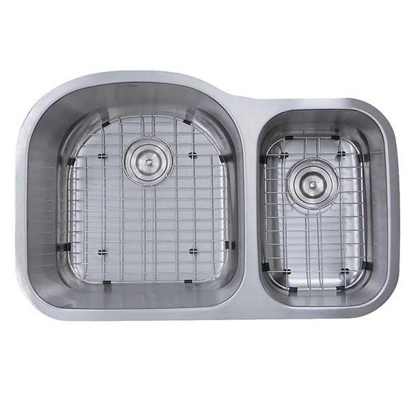 70 30 offset double bowl undermount kitchen sinks