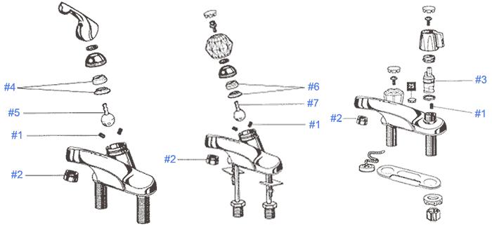 peerless brand faucet repair parts