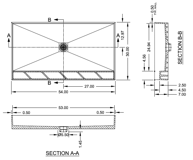Schluter Shower Base Sizes