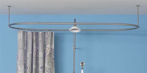 Clawfoot Tub Shower Curtain Rod Oval