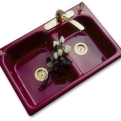 Colored Kitchen Sinks Anti Fatigue Mat Double Bowl Porcelain Looks With Cast Iron Strength Augusta Self Rimming Sink