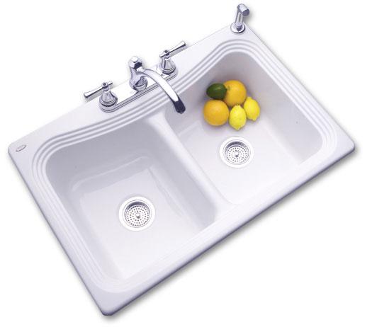 double bowl kitchen sinks porcelain