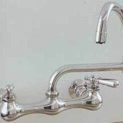 Kitchen Wall Faucets Beachy Table Old Fashioned P0830