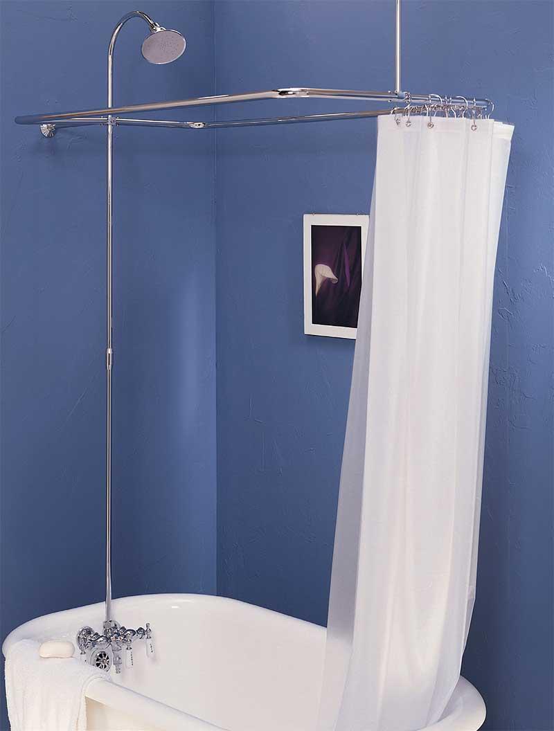 clawfoot shower sets