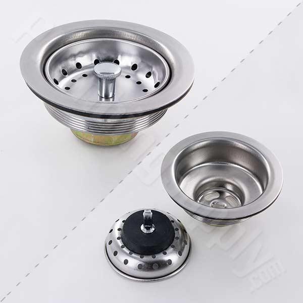 kitchen sink drain laminate flooring for standard stainless steel basket strainer strainers
