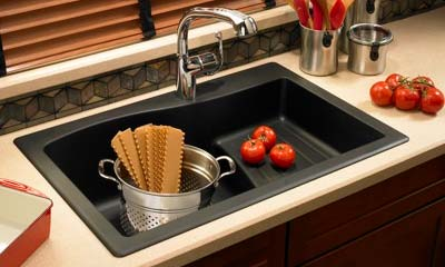 kitchen sink and faucet delta motion sensor swan quartz sinks