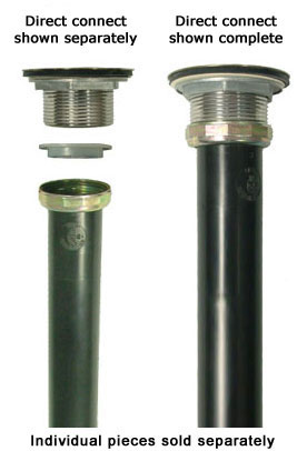 PVC and ABS ptraps and other tubular drain components