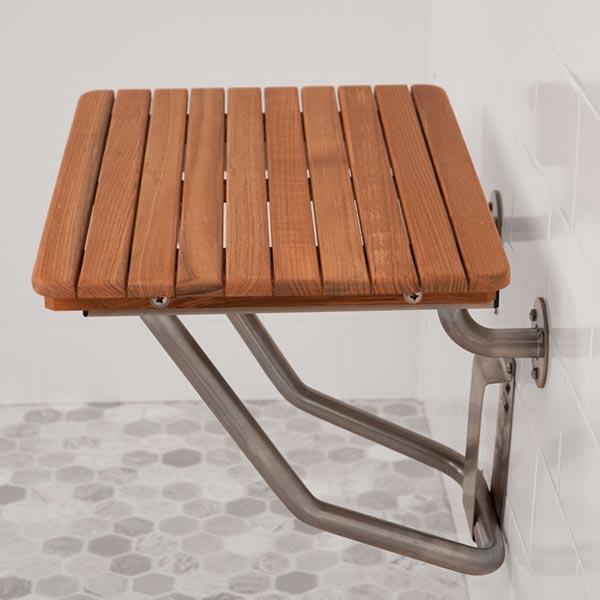 Ada Compliant Foldup Teak Shower Seats And Benches