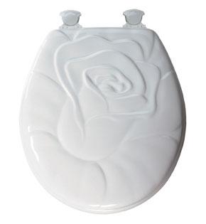 Rose pattern toilet seat