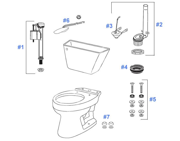 Toto Dalton Toilet Replacement Parts