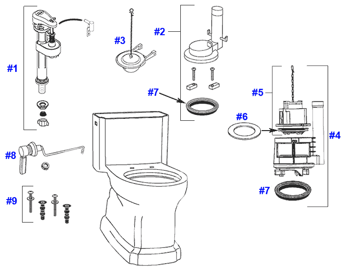 Image Result For American Standard Toilet Lpf Gpf Replacement Parts