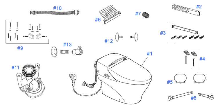 Parts for Toto Neorest Toilets