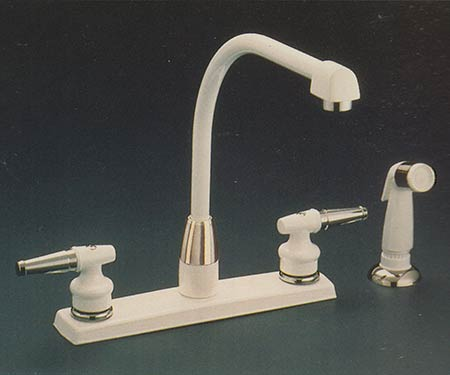 two handle kitchen faucet tile for backsplash pictures of valley double faucets y21611 with coverplate in white finish 14