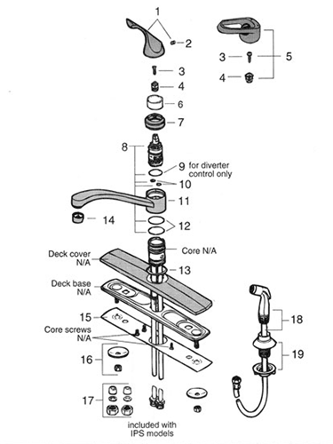 kitchen faucet repair cabinet outlet nj diagram wiring name valley single handle parts graff